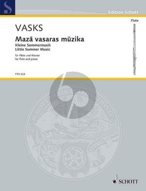 Vasks Little Summer Music Flute-Piano
