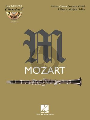 Mozart Clarinet Concerto A-major KV 622 Clarinet Play-Along (BK-Cd)