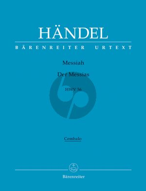Messias / Messiah HWV 56 Soli-Chor-Orch. Cembalo Stimme
