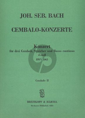 Bach Konzert d-moll BWV 1063 3 Cembali-Streicher-Bc Cembalo 2