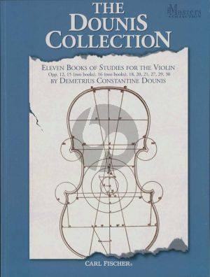 The Dounis Collection (Eleven Books of Studies for the Violin) (edited by Demetrius Constantine Dounis) (Spiral Bound edition)