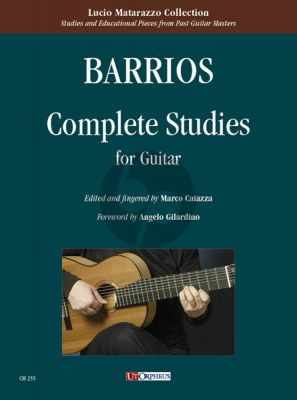 Barrios Mangore Complete Studies for Guitar (edited by Marco Caiazza)