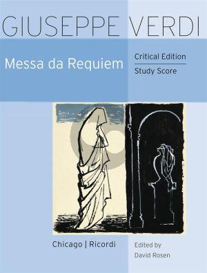 Verdi Messa da Requiem Study Score (edited by David Rosen) (Ricordi)