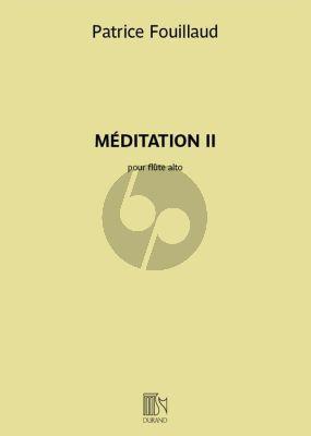Fouillaud Meditation II Flûte alto seule