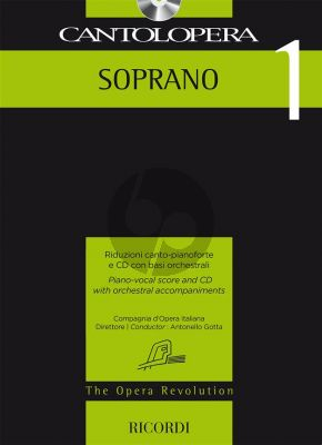 Cantolopera 1: Soprano Voice-Piano (Bk-Cd)