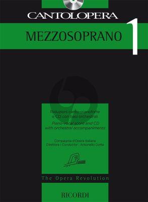 Cantolopera 1: Mezzosoprano Voice-Piano (Bk-Cd)