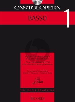 Cantolopera 1: Basso Voice-Piano (Bk-Cd)