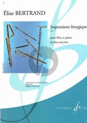 Bertrand Impressions Liturgiques Op.2 Flute-Piano