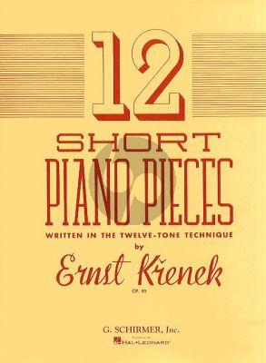 Krenek 12 Short Piano Pieces Op.83 (Written in the Twelve-Tone Technique)