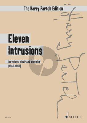 Partch Eleven Intrusions for voices, choir and ensemble Score