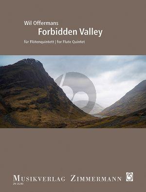 Offermans Forbidden Valley 5 Flöten (3 Fl.-Altfl.-Bassfl.) (Part./Stimmen)