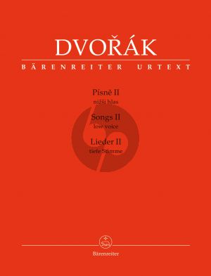 Dvorak Songs (Lieder) II for Low Voice and Piano (cz./engl./germ.) (edited by Veronika Vejvodová)
