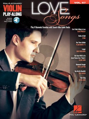 Love Songs (Violin Play-Along Series Vol.67 (Book with Audio online)
