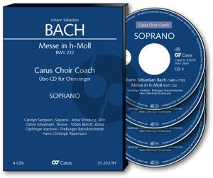 Bach Messe h-moll BWV 232 Soli-Choir-Orch. Sopran Chorstimme 4 CD's (Carus Choir Coach)