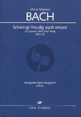 Bach Kantate BWV 36 Schwingt freudig euch empor Soli-Chor-Orch. Klavierauszug (dt./eng.) (ed. Klaus Hofmann)