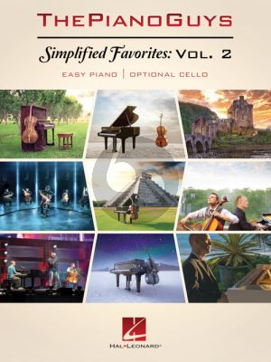 The Piano Guys - Simplified Favorites Vol.2 (easy Piano with optional Cello)