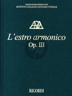 Vivaldi L'Estro Armonico Op.3 (12 Concertos Violins and Orchestra) Full Score (Critical Edition) (edited by Michael Talbot)