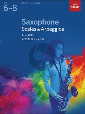 Saxophone Scales & Arpeggios, ABRSM Grades 6–8