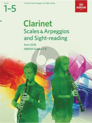 Clarinet Scales & Arpeggios and Sight-Reading, ABRSM Grades 1–5