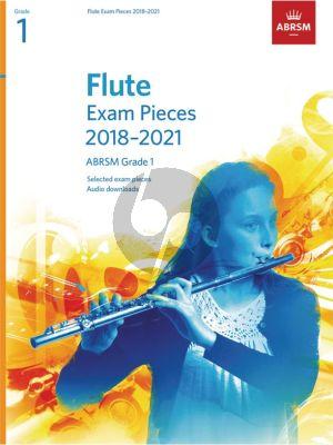 Flute Exam Pieces 2018–2021, ABRSM Grade 1 Flute-Piano (Book with Audio online)