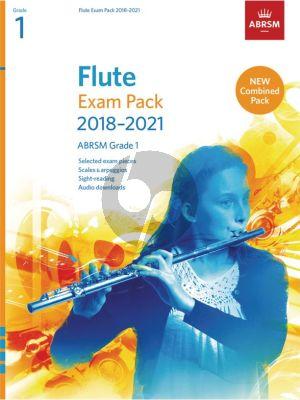 Flute Exam Pack 2018–2021, ABRSM Grade 1 Flute-Piano (Book with Audio online)