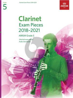 Clarinet Exam Pieces 2018–2021 ABRSM Grade 5 Clarinet-Piano
