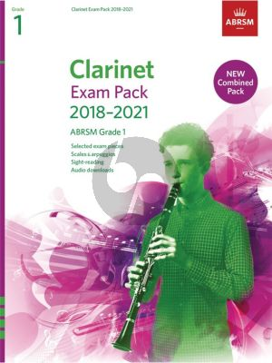 Clarinet Exam Pack 2018–2021 ABRSM Grade 1 Clarinet-Piano (Book with Audio online)