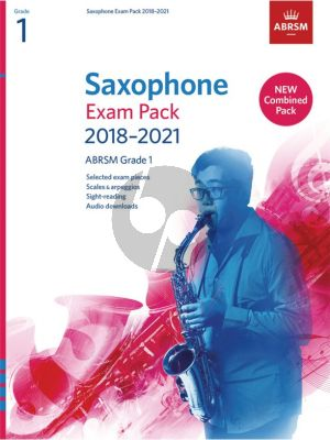 Saxophone Exam Pack 2018–2021, ABRSM Grade 1 Saxophone [Eb/Bb]-Piano (Book with Audio online)