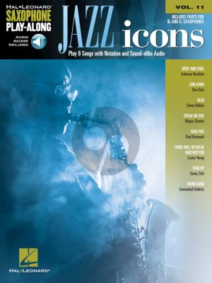 Jazz Icons (Saxophone Play-Along Series Vol.11) (Book with Audio online)