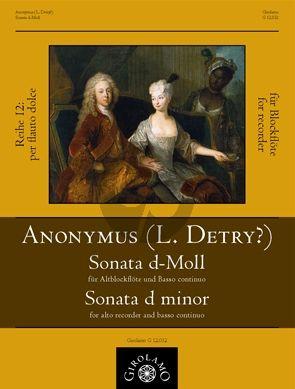 Sonata d-moll (L. Detry? fl. 1721-1727)