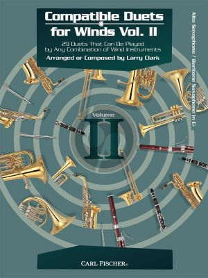Compatible Duets for Winds Vol.2 Alto Sax. (or Baritone Sax.) (edited by Larry Clark)