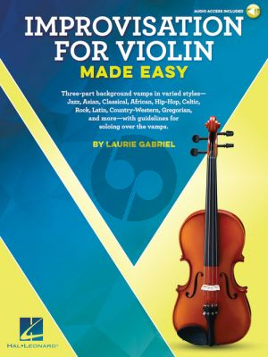 Gabriel Improvisation for Violin Made Easy (Book with Audio online)