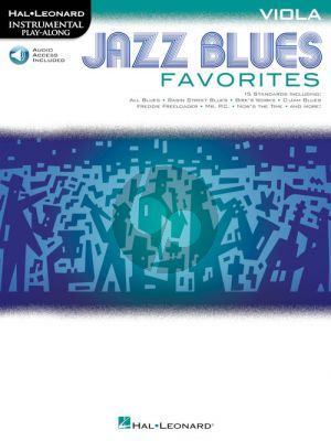Jazz Blues Favorites Instrumental Play-Along Viola (Book with Audio online)