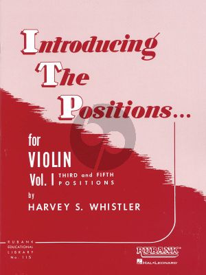 Whistler Introducing the Positions Vol.1 Violin (Third and Fifth Position)