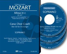 Mozart Mass c-minor KV 427 Soli-Choir-Orch. Bass Voice 3 CD's (Carus Choir Coach)