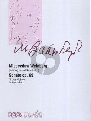 Weinberg Sonate Op. 69 (1959) 2 Violinen (Part./Stimmen)