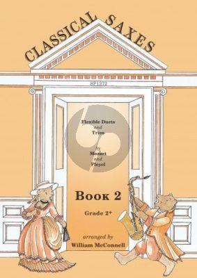 Classical Saxes Book 2 (duets/trios in a flexible ensemble) (Score/Parts) (arr. William McConnell)