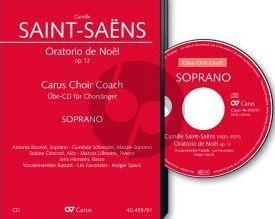 Saint-Saens Oratorio de Noel Op.12 (SMsATB soli-SATB- Strings-Organ-Harp) Bass Voice CD (Carus Choir Coach)