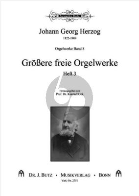 Herzog Orgelwerke Band 8 Größere freie Orgelwerke Heft 3 (Ped.) (ed. Konrad Klek)