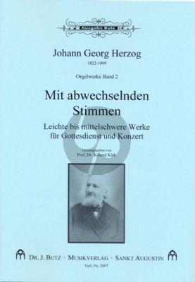 Herzog Orgelwerke Band 2 Mit abwechselnden Stimmen – 27 leichte bis mittelschwere Werke (Ped.) (ed. Konrad Klek)