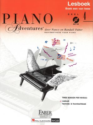 Faber Piano Adventures Lesboek 4 (Bk-Cd) (Ned.)