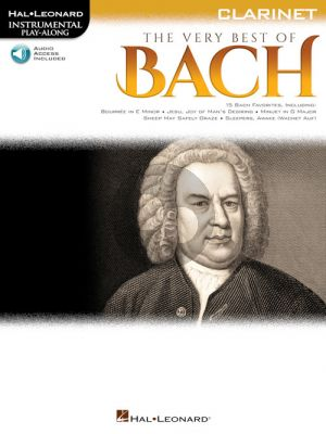 The Very Best of Bach Instrumental Play-Along Clarinet Book with Audio online)