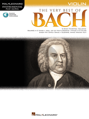 The Very Best of Bach Instrumental Play-Along Violin Book with Audio online)
