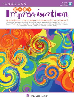 Easy Improvisation for Tenor Sax (Book with Audio online)