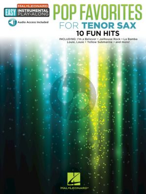 Pop Favorites Easy Instrumental Play-Along Tenor Sax (Book with Audio online)
