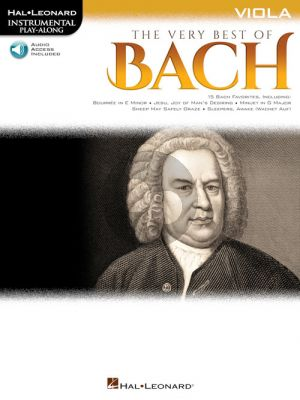 The Very Best of Bach Instrumental Play-Along Viola Book with Audio online)