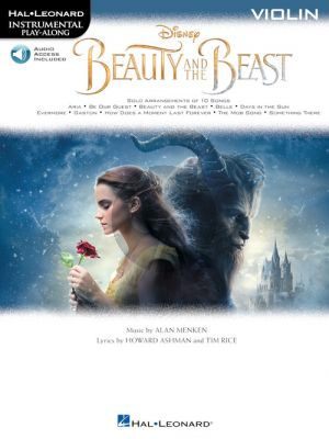 Menken Beauty and the Beast Instrumental Play-Along Violin (Book with Online Audio)