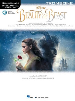 Menken Beauty and the Beast Instrumental Play-Along Trombone (Book with Online Audio)