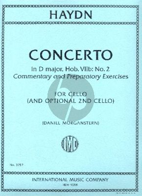 Haydn Concerto D major Hob. VIIb: No.2 Commentary and Preparatory Exercises Violoncello with 2nd Cello part
