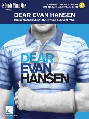 Pasek-Paul Dear Evan Hansen Vocals with Backing Tracks (Book with Audio online) (Music Minus One)